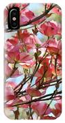 Office Art Prints Pink Flowering Dogwood Trees 18 Giclee Prints Baslee Troutman IPhone Case