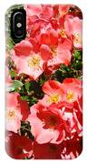 Office Art Rose Garden Landscape Art Pink Roses Giclee Baslee Troutman IPhone Case