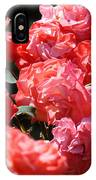 Office Art Roses Pink Rose Flowers Floral Garden IPhone Case