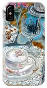 Oil Painting Still Life China Tea Set IPhone Case