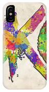 Okc Typography Watercolor IPhone Case
