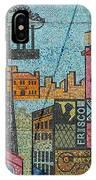 Oklahoma City Bricktown Mosaic Wall IPhone Case