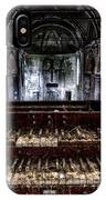 Old Abandoned Church Organ In Decay IPhone Case