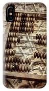 Old Accounting Wooden Abacus IPhone Case