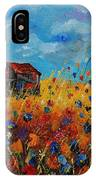 Old Barn And Wild Flowers IPhone Case