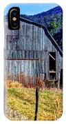 Old Barn In West Virginia Mountains 4836 Fusedt IPhone Case