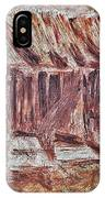 Old Barn Outhouse Falling Apart In Decay And Dilapidation Rotting Wood Overgrown Mountain Valley Sce IPhone Case