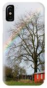 Old Barn Rainbow IPhone Case