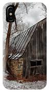Old Barn Winter IPhone X Case