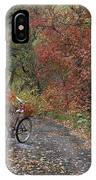 Old Bike In Autumn IPhone Case