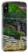 Old Brick Fence Built To The Edge IPhone Case