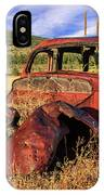 Old Car At Susanville Ranch IPhone Case