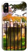 Old Cemetary In Newport Rhode Island IPhone Case