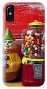 Old Clown Toy And Gum Machine  IPhone Case