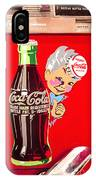 Old Coca-cola Red And White Coke Machine Vintage Vendo Model 44  IPhone Case