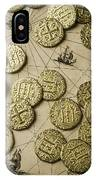 Old Coins On Old Map IPhone Case