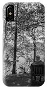 Old Couple On The Bench By The Lake IPhone Case