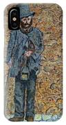 Old-crafts-the-lamplighter-italy-1800 IPhone Case