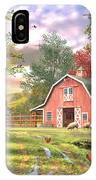 Old Farm House Variant 1 IPhone Case