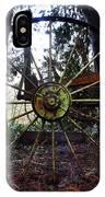 Old Farm Wagon Wheel IPhone Case