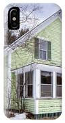 Old Green And White New Englander Home IPhone Case