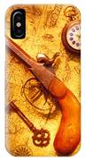 Old Gun On Old Map IPhone Case