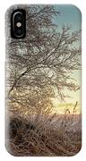 Old Harvester By The Birch Tree IPhone Case