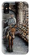 Old Man On A Donkey IPhone Case