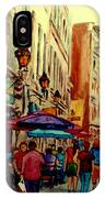 Old Montreal Cafes IPhone Case