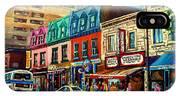 Old Montreal Schwartzs Deli Plateau Montreal City Scenes IPhone Case