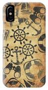 Old Nautical Parchment IPhone X Case