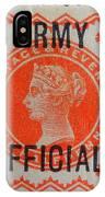 Old Orange Halfpenny Stamp  IPhone Case