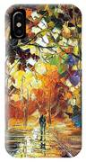 Old Park 3 - Palette Knife Oil Painting On Canvas By Leonid Afremov IPhone Case