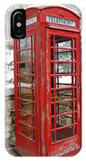 Old Phone Booth IPhone Case
