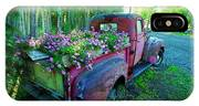 Old Pickup Truck As Flower Bed IPhone Case
