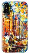 Old Port - Palette Knife Oil Painting On Canvas By Leonid Afremov IPhone Case