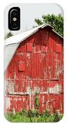 Old Red Barn Johnson County Ia IPhone Case
