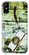 Old Retro Film Camera In Creative Composition IPhone Case