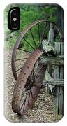 Old Rusty Wagon Wheels IPhone Case