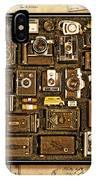 'old School' Cameras IPhone Case