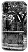 Old Sheldon Church Ruins Beaufort Sc Black And White IPhone Case
