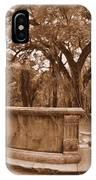Old Sheldon Church Ruins Beaufort Sc Sepia IPhone Case