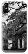 Old Sheldon Church Ruins Black And White 3 IPhone Case