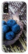 Old Spoon And Blueberries IPhone Case