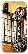 Old Steel Neon Sign IPhone Case