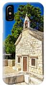 Old Stone Chapel In Primosten IPhone Case
