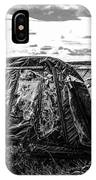 Old Tarred Boat On Holy Island 2 IPhone X Case
