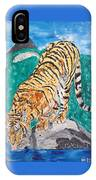 Old Tiger Drinking IPhone Case