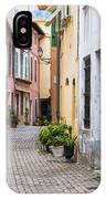 Old Town Street In Villefranche-sur-mer IPhone Case