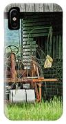 Old Tractor - Missouri - Barn IPhone Case